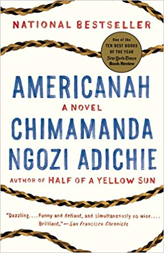 book cover Americanah by Chimamanda Ngozi Adiche
