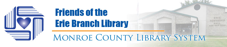 Friends of the Erie branch library banner