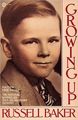 Growing Up  by Russell Baker book cover