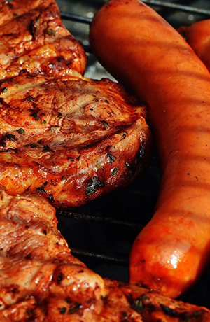bbq food on grill