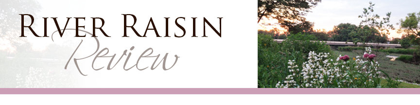 River Raisin Review Banner with Flowers