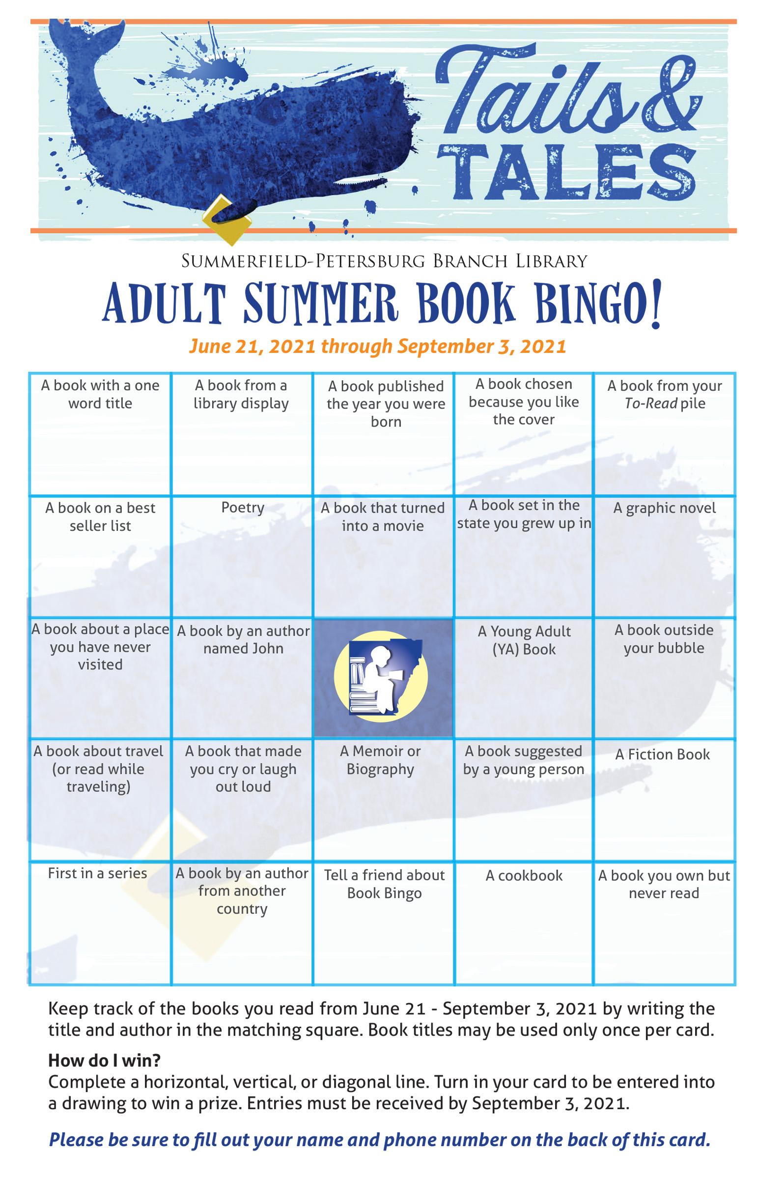 Preview of Petersburg Adult Summer Reading Bingo