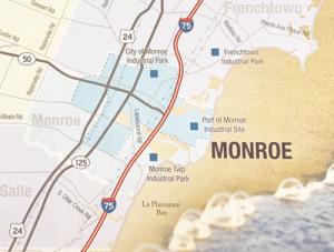 Map of Monroe Michigan
